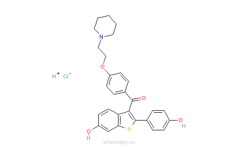 CAS:82640-04-8_盐酸雷洛昔芬的分子结构