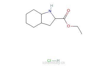 CAS:82864-25-3_L-八氢吲哚-2-羧酸乙酯盐酸盐的分子结构