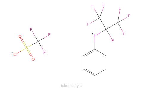 CAS:82959-18-0_(全氟异丙基)苯基三氟甲烷磺酸碘盐的分子结构
