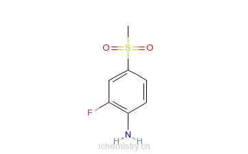 CAS:832755-13-2_2-氟-4-(甲基磺酰基)苯胺的分子结构