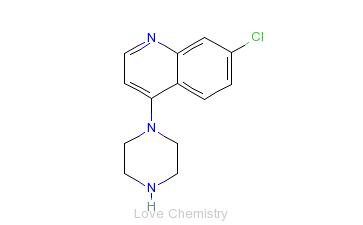 CAS:837-52-5_7-氯-4-(1-哌嗪基)喹啉的分子结构