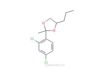 CAS:83833-32-3_2-(2,4-二氯苯基)-2-甲基-4-丙基-1,3-二氧戊环的分子结构