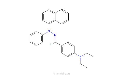 CAS:83890-47-5_4-(二乙氨基)-苯甲醛-1-萘基苯基腙的分子结构