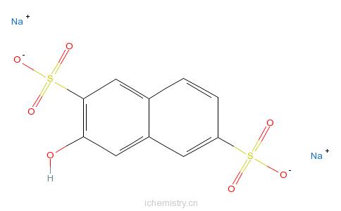 CAS:83949-45-5_2-萘酚-3,7-二磺酸钠的分子结构