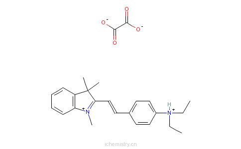 CAS:83969-11-3_2-[2-[4-(二乙基氨基)苯基]乙烯基]-1,3,3-三甲基-3H-吲哚翁乙二酸盐的分子结构