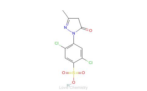 CAS:84-57-1_1-(2,5-二氯-4-磺酸苯基)-3-甲基-5-吡唑酮的分子结构