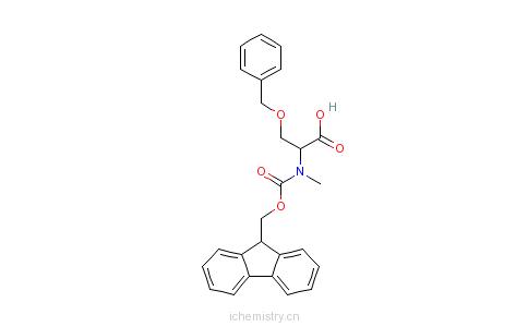CAS:84000-14-6_N-(9-芴甲氧羰酰基)-N-甲基-O-苄基-L-丝氨酸的分子结构