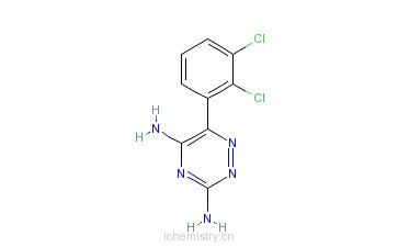 CAS:84057-84-1_拉莫三嗪的分子结构