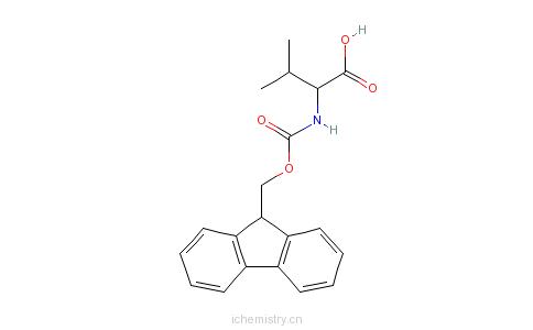 CAS:84624-17-9_Fmoc-D-缬氨酸的分子结构