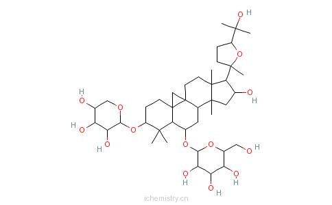 CAS:84687-43-4_黄芪甲苷的分子结构