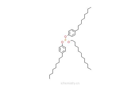 CAS:84787-76-8_亚磷酸二(4-壬基苯基)十二烷基酯的分子结构