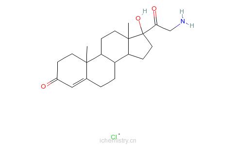 CAS:84869-30-7_21-氨基-17-羟基孕烯二酮盐酸盐的分子结构