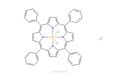 CAS:84896-72-0_二氯磷四苯基卟啉氯化物的分子结构