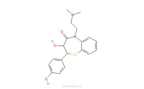 CAS:84903-82-2_去乙酰-O-去甲基地尔硫卓的分子结构