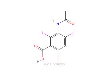 CAS:85-36-9_醋碘苯酸的分子结构