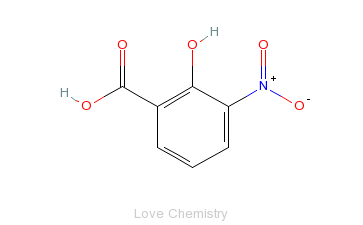 CAS:85-38-1_3-硝基水杨酸的分子结构