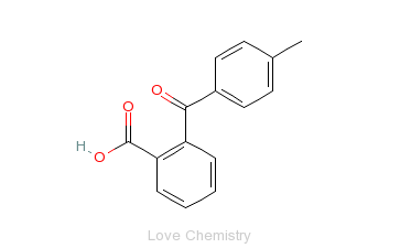 CAS:85-55-2_2-(对甲苯甲酰基)苯甲酸的分子结构