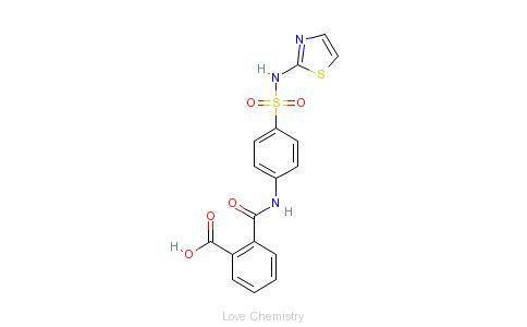 CAS:85-73-4_酞磺胺噻唑的分子结构