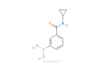 CAS:850567-23-6_3-环丙氨基羰基苯硼酸的分子结构