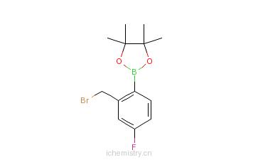 CAS:850567-57-6_2-溴甲基-4-氟苯硼酸频哪醇酯的分子结构