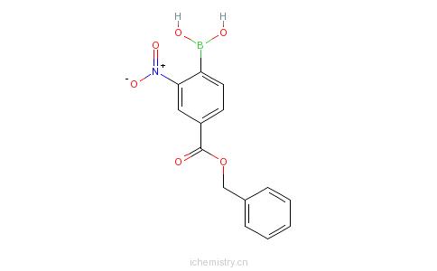 CAS:850568-58-0_(4-苄氧基羰基-2-硝基)苯基硼酸的分子结构