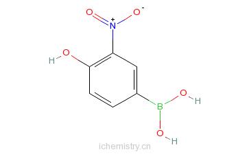CAS:850568-75-1_4-羟基-3-硝基苯硼酸的分子结构