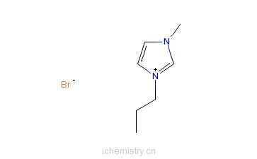CAS:85100-76-1_1-丙基-3-甲基咪唑溴盐的分子结构