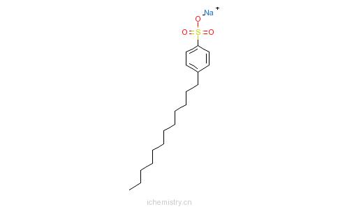CAS:85117-50-6_单C10-14烷基苯磺酸衍生物钠盐的分子结构
