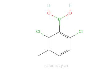 CAS:851756-54-2_2.6-二氯-3-甲基苯硼酸的分子结构