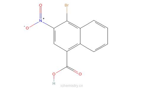 CAS:852381-11-4_四溴- 3 -硝基- 1 -萘甲酸的分子结构