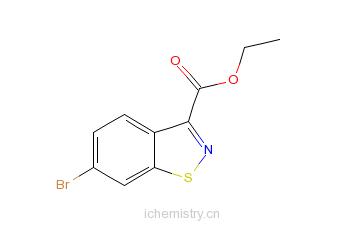 CAS:858671-74-6_6-溴-1,2-苯并异噻唑-3-甲酸乙酯的分子结构