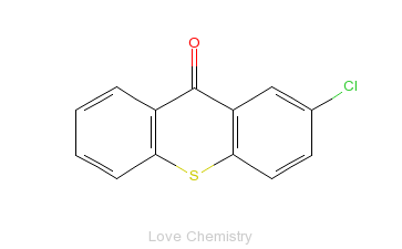 CAS:86-39-5_2-氯噻吨酮的分子结构