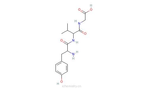 CAS:86030-52-6_D-TYR-VAL-GLY的分子结构