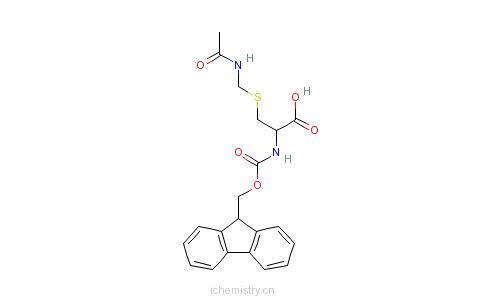 CAS:86060-81-3_芴甲氧羰基-S-乙酰氨甲基-L-半胱氨酸的分子结构