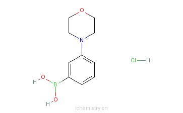CAS:863248-20-8_3-吗啉苯硼酸盐酸盐的分子结构