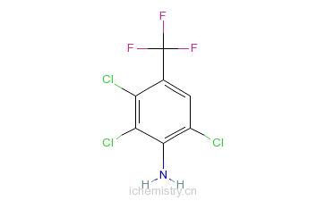 CAS:86399-04-4_2,3,6-三氯-4-(三氟甲基)苯胺的分子结构