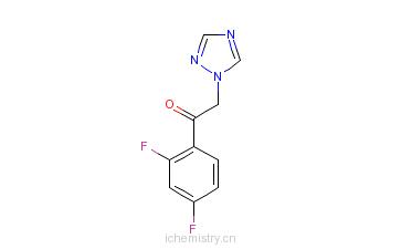 CAS:86404-63-9_2'4'-二氟-2-[1-(1H-1,2,4-三唑基)]苯乙酮的分子结构