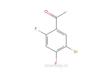 CAS:864773-64-8_1-(5-溴-2,4-二氟苯基)乙酮的分子结构