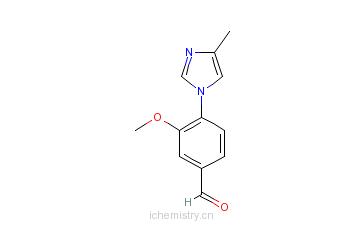 CAS:870837-18-6_3-甲氧基-4-(4-甲基-1H-咪唑-1-基)苯甲醛的分子结构