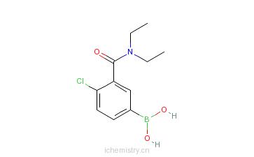 CAS:871332-68-2_4-氯-3-(N,N-二乙基氨甲酰基)苯基硼酸的分子结构