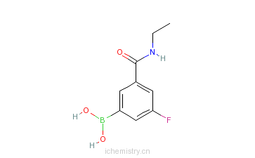 CAS:874219-38-2_5-(乙基氨甲酰基)-3-氟苯基硼酸的分子结构