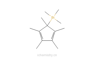 CAS:87778-95-8_三甲基(1,2,3,4,5-五甲基环戊二烯基)硅烷的分子结构