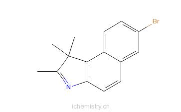CAS:879713-65-2_7-溴-1,1,2-三甲基-1H-苯并[e]吲哚的分子结构