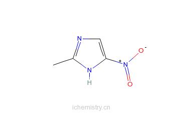 CAS:88054-22-2_2-甲基-5-硝基咪唑的分子结构