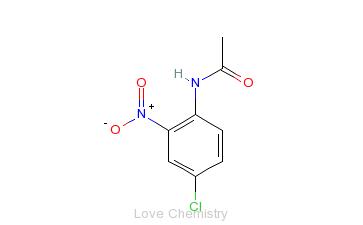 CAS:881-51-6_N-(4-氯-2-硝基苯基)乙酰胺的分子结构