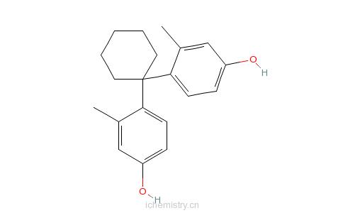 CAS:88187-83-1_4,4′-环亚己基双(3-甲基苯酚)的分子结构