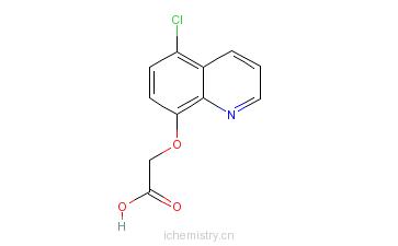 CAS:88349-88-6_(5-氯-8-喹啉氧基)乙酸的分子结构