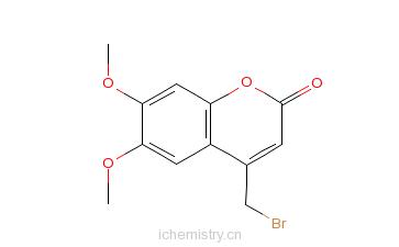 CAS:88404-25-5_4-(溴甲基)-6,7-二甲氧基香豆素的分子结构