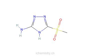 CAS:88982-32-5_5-甲基磺酰基-4H-1,2,4-三唑-3-胺的分子结构