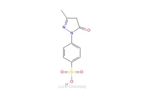 CAS:89-36-1_1-(4-磺酸苯基)-3-甲基-5-吡唑酮的分子结构